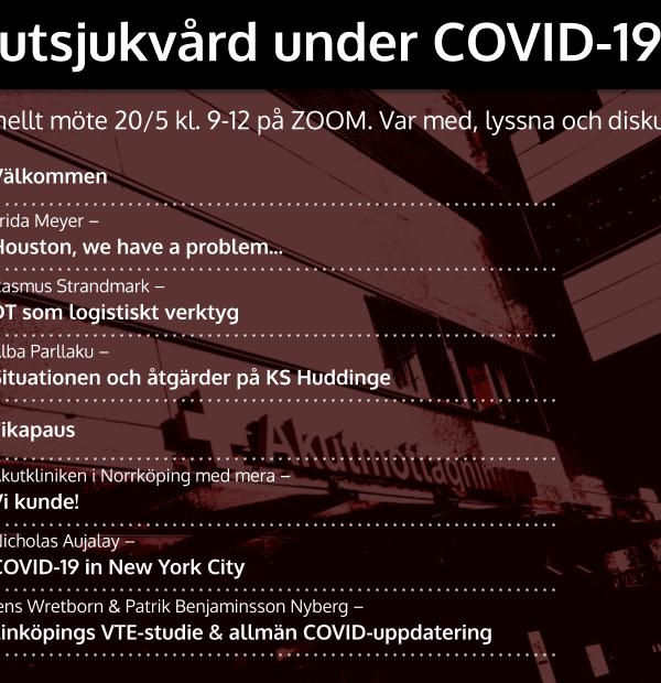 20/5 Nationellt möte: Akutsjukvård under COVID-19 pandemin